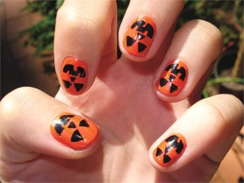 New Hairstyle 2014 Top 10 Pumpkin Nail Art Designs For Halloween