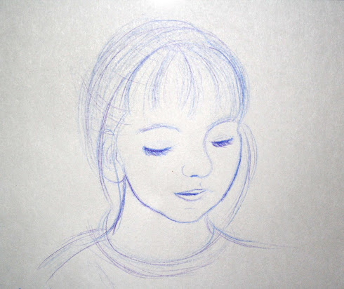 Sketch girl age 5