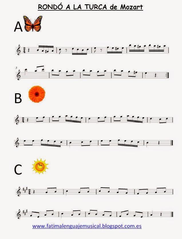Partitura Para Completar Marcha Turca Mozart Eduplaneta Musical