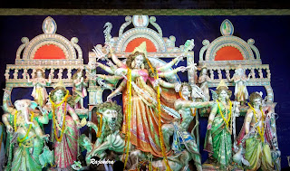 Goddess Durga With family