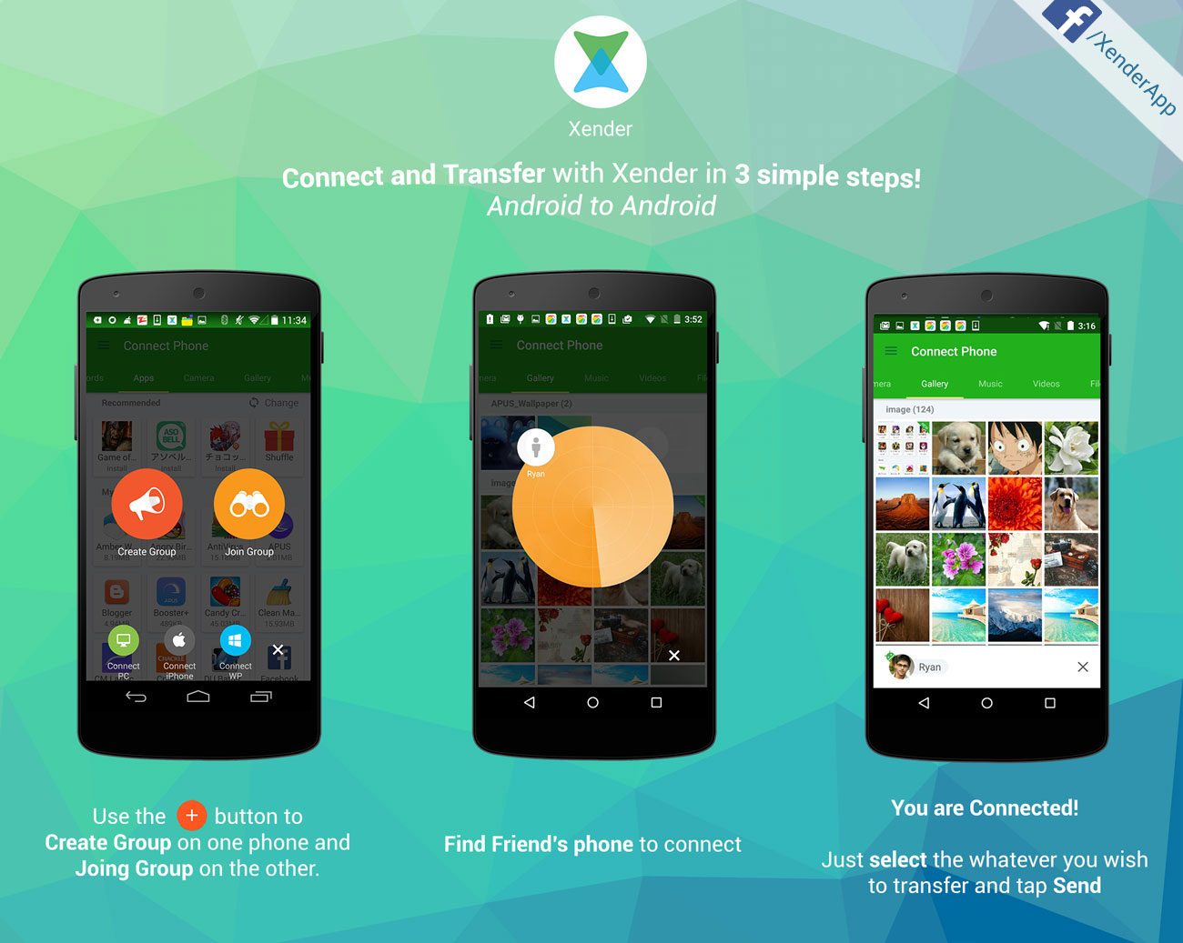 Phone Transfer Files To Android Phone xender file transfer sharing how to files from android find your friends device on the radar and click it both of devices should be automatically connected connect t