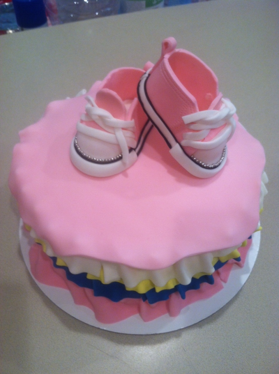 Slice Of Sugar Ballerina Cake With Converse Baby Shoes