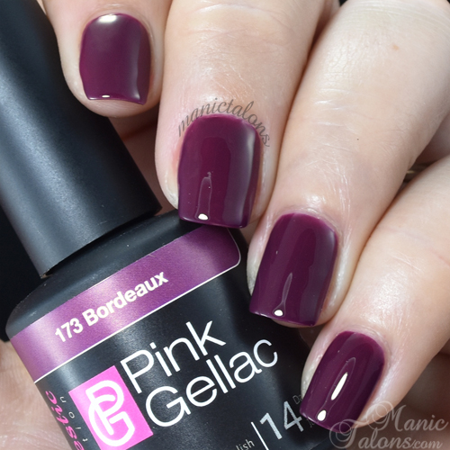 Pink Gellac Bordeaux Swatch