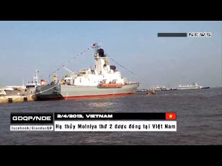 Vietnam launches the second domestic made high-speed missile boat Project 1241.8 Molnya