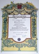Mestarin kirja - Master certificate