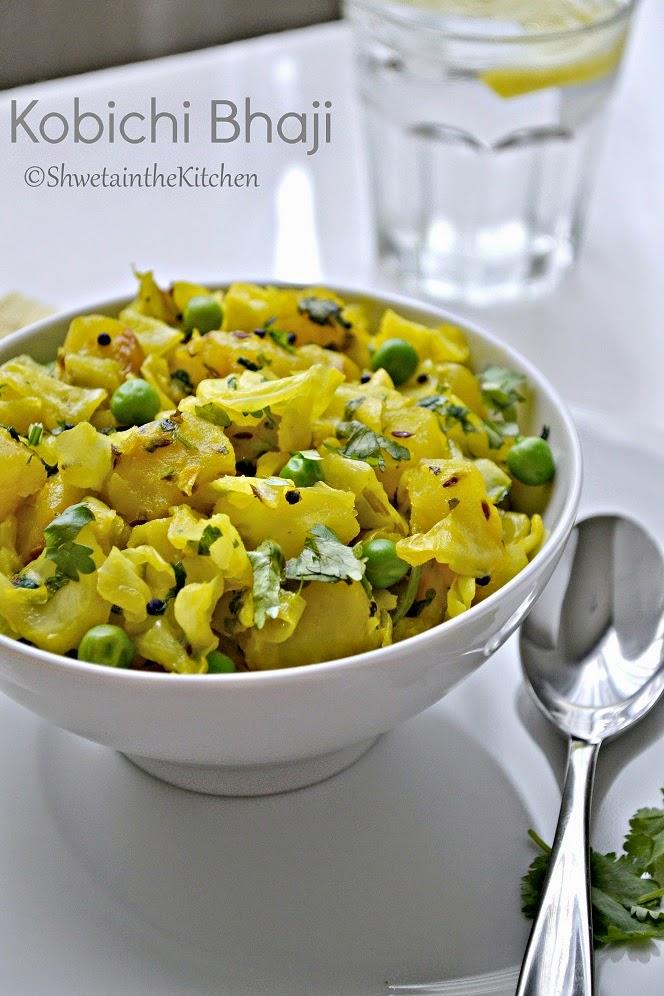 Shweta in the Kitchen: Cabbage Potato and Green Peas Stir Fry ...