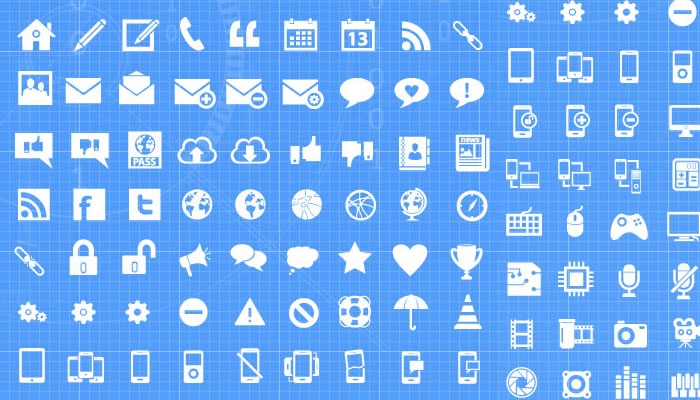 8 Free Icon Sets for Web Designers