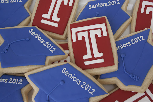 Temple graduation cookies