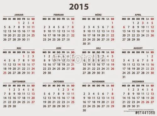 Kalender 2015.