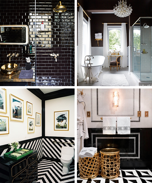 Inspiration overload a bathroom remodel is nigh swoon for Black and gold bathroom ideas