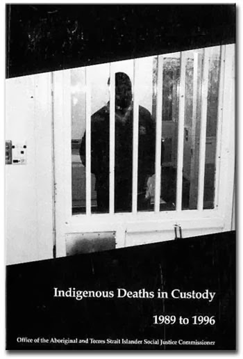 Cover of Indigenous Deaths Report, 1989-1996. Story on Ghost Hunts.