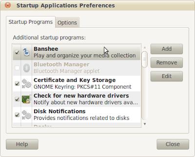 Make Startup Programs in Ubuntu Natty
