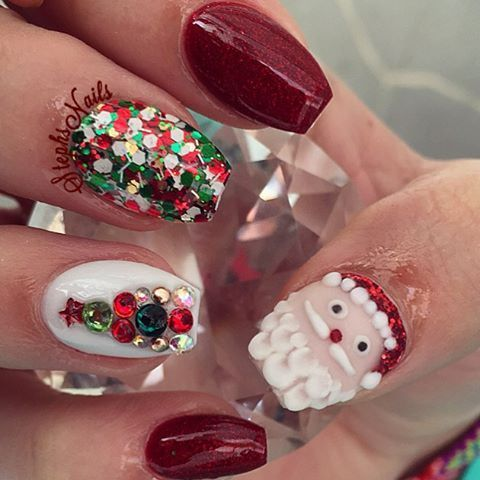 Festive Santa Nails OMG Love Beauty