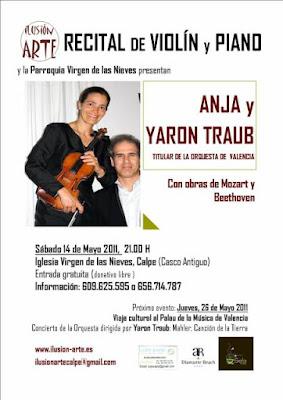 """Yaron+y+Anja+Traub+14.5.2011 Maestro de piano y Director de la Orquesta Sinfónica de Valencia """"Yaron Traub"""" 14.de Mayo en Calpe"""