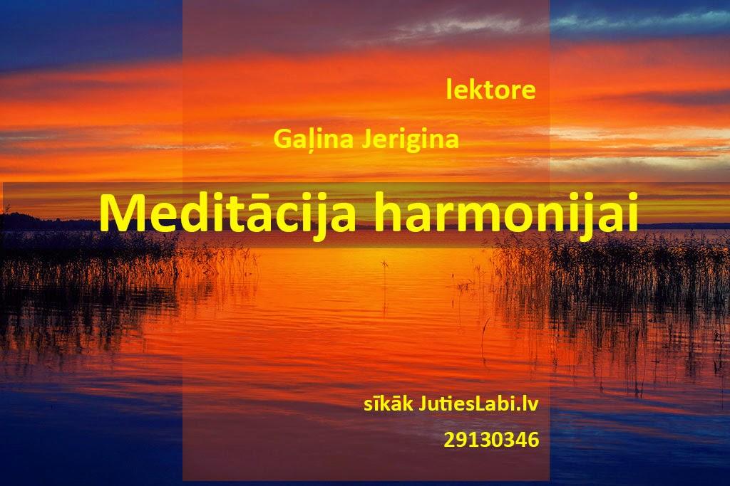 Meditācija. Gaļina Jerigina