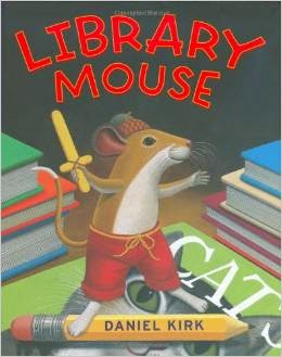 http://www.amazon.com/Library-Mouse-Daniel-Kirk/dp/0810993465