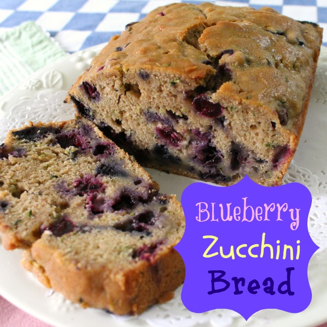 Luscious Blueberry Zucchini Bread
