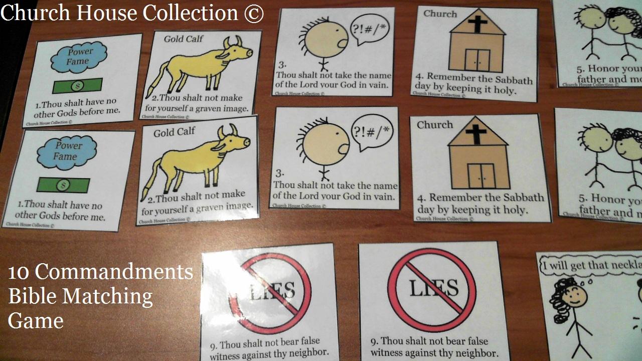 Commandments Kids Match Game