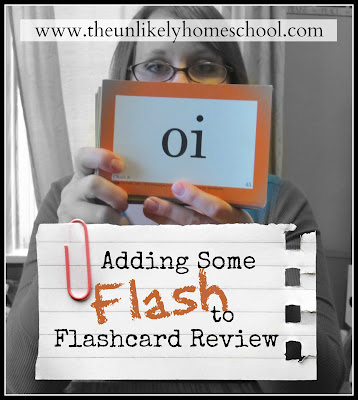 Adding Some FLASH to Flashcard Review-5 simple games/activities for reviewing with flashcards in homeschooling-The Unlikely Homeschool