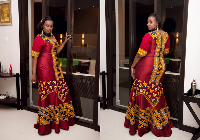 Khanga kitenge-ankara plus size dress