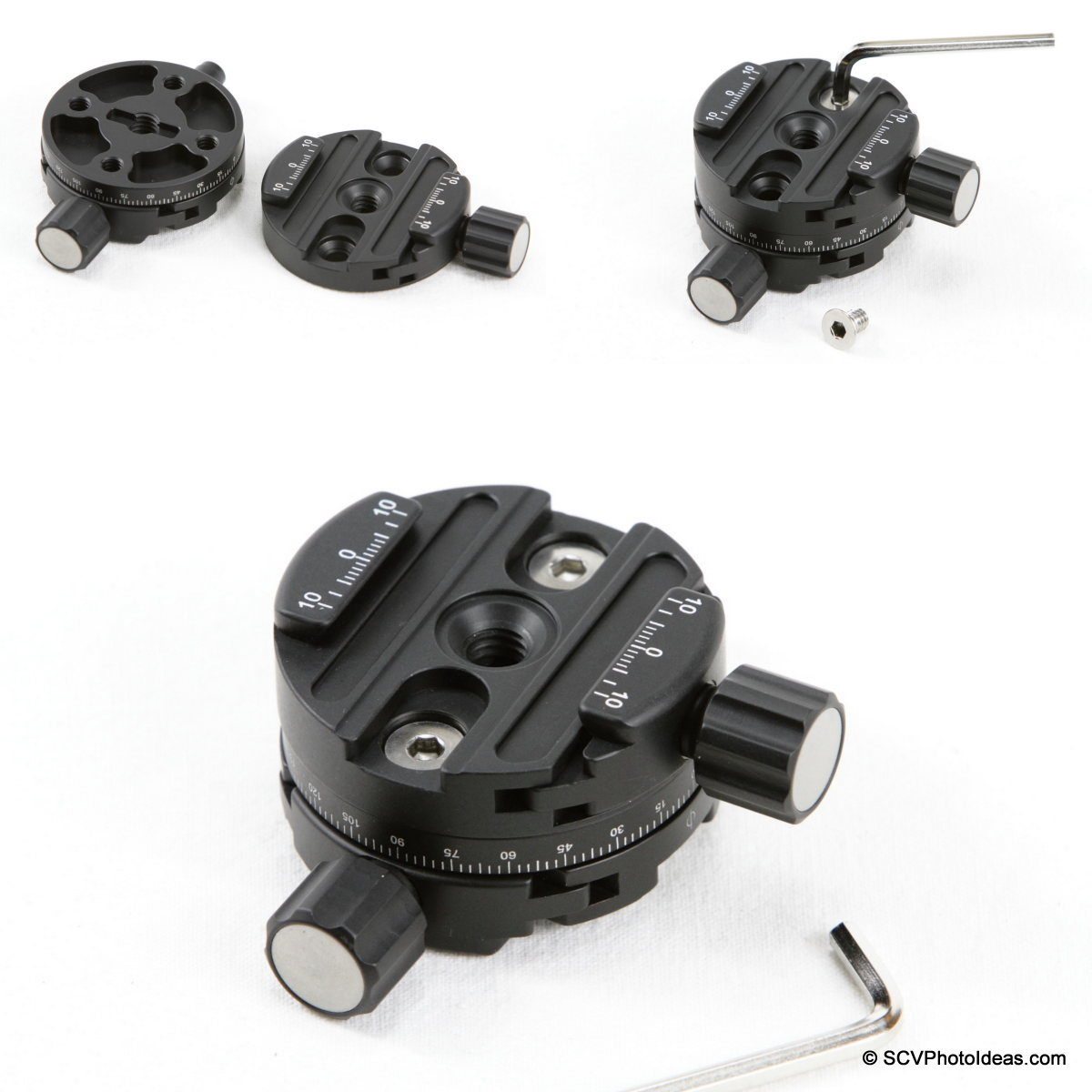 Sunwayfoto DDH-03 PC & DDY-58 QR Clamp mounting sequence