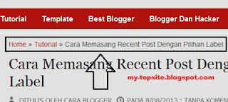 Cara Blogger Breadcrumb