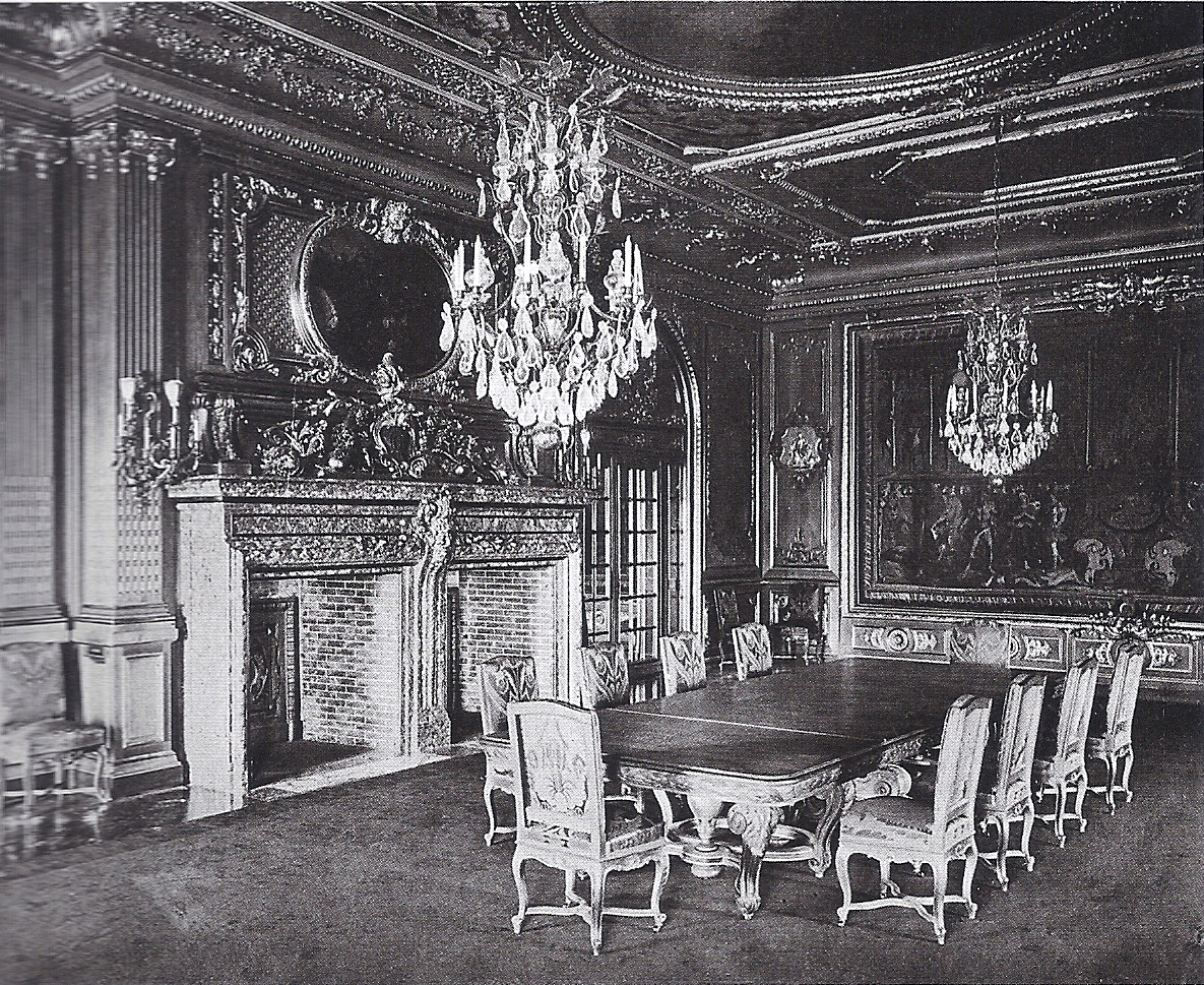 The magnificent great hall was beautifully decorated with spoils collected from the goelets many trips to europe