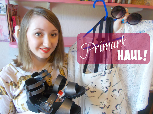 primark haul june summer 2015 fashion beauty unicorn bag white kimono pyjamas shoes candles