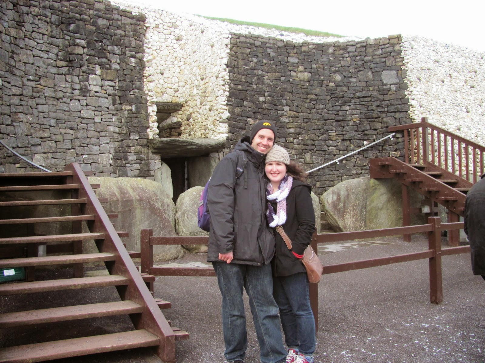 Cory and Sara at Newgrange Entrance Co. Meath Ireland