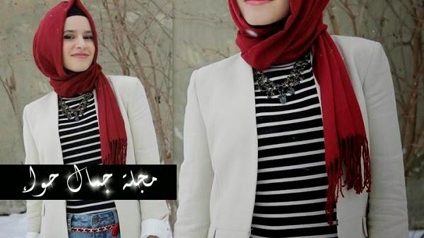 بالصور: 12 طريقة لترتدى الأحمر بحجابك