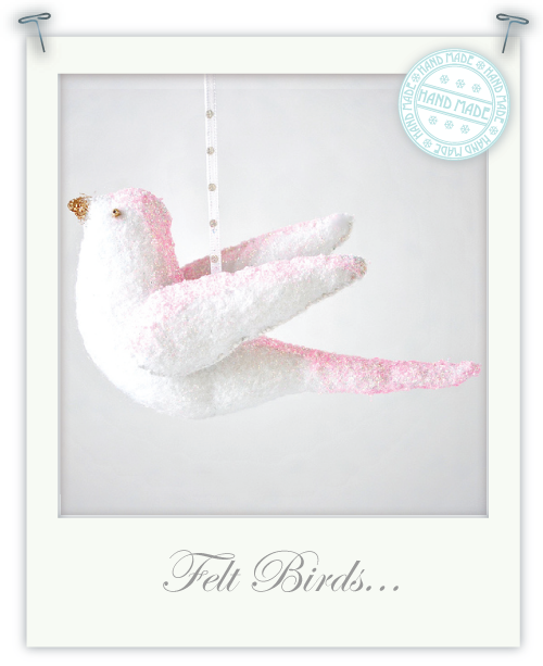 Hand made felt birds for Christmas by Torie Jayne