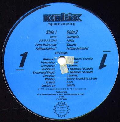 K-Otix – Spontaneity (1997) (12'') (VBR)