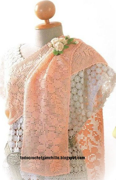 Esquema crochet filet de camino de mesa