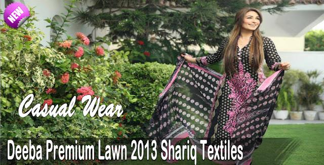 Deeba Premium Lawn 2013 By Shariq Textiles