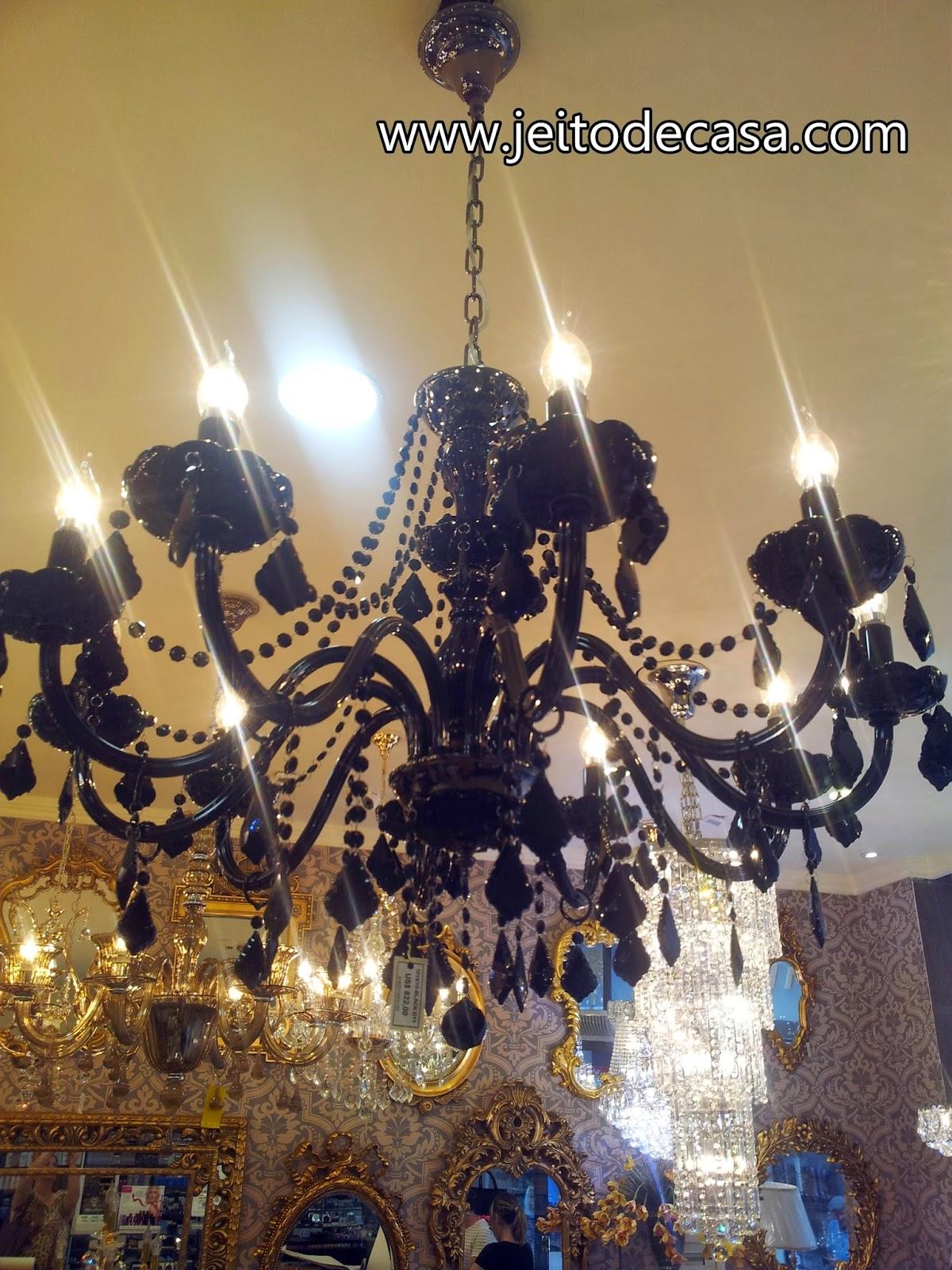 onde comprar lustres de cristal em lojas do paraguai