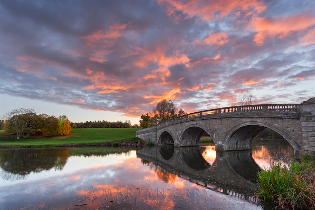 Sunset reflection in Blenheim Park on the River Glyme by Martyn Ferry Photography