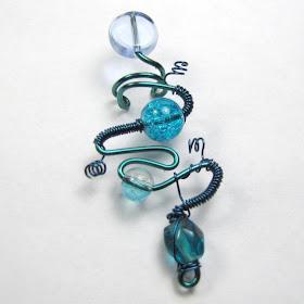 BP Brand Natural Howlite Turquoise Blue Pendant Wishbone Necklace Goldtone