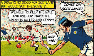Duncan McKay captain of Scotland at World Cup 82