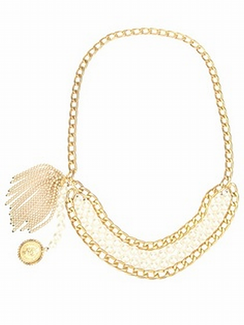 Chanel pearl and chain necklace