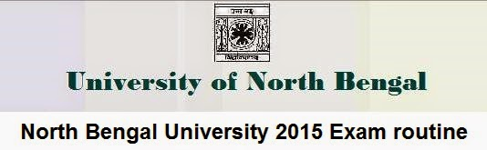 North Bengal University 2015 Exam routine