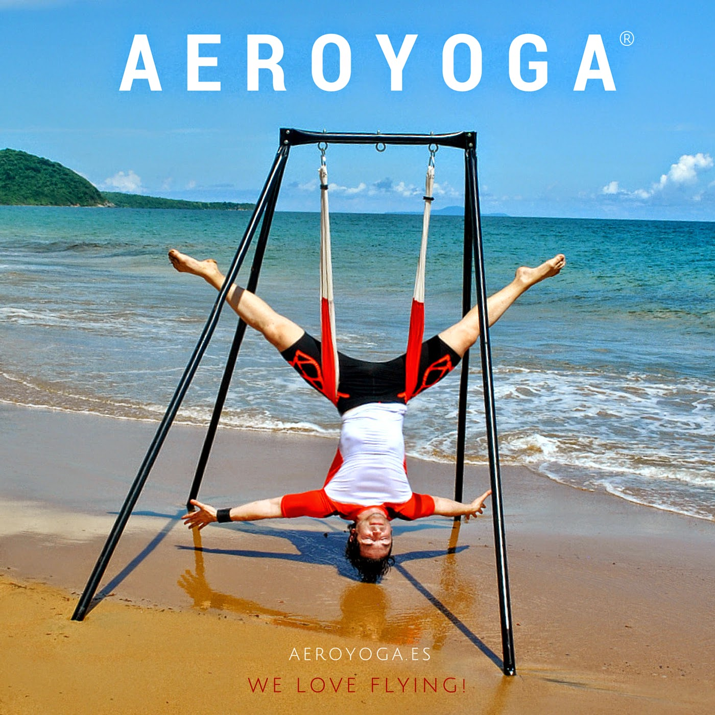 yoga aéreo, trapecio, acrobátcio