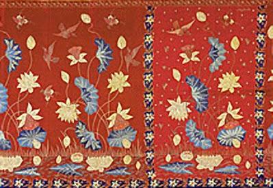 Motif Buketan Bunga Batik Belanda