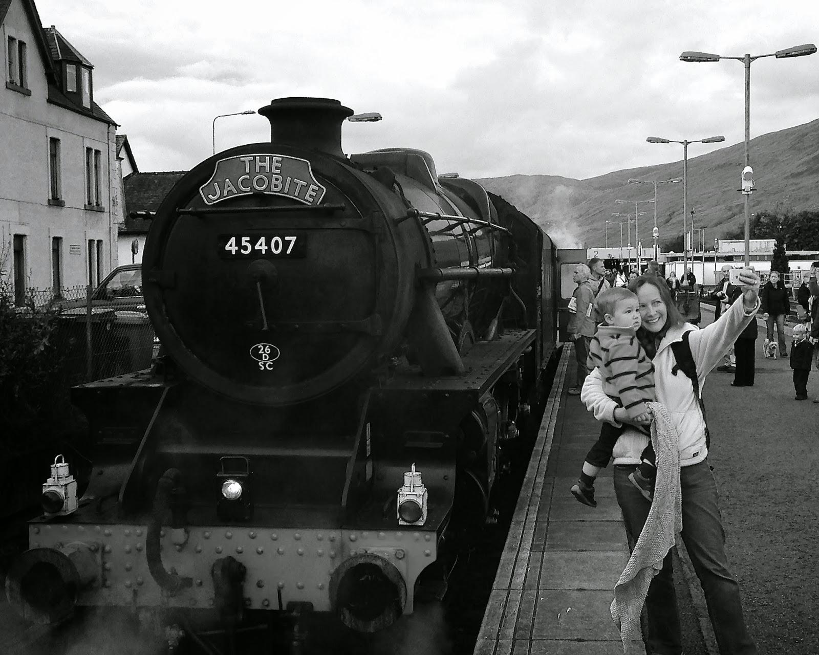 Selfie with a steam train
