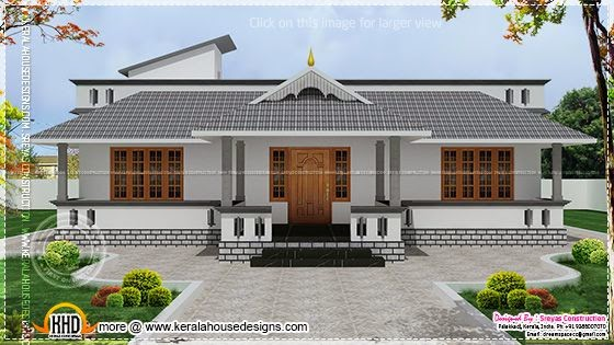 Single floor house rendering