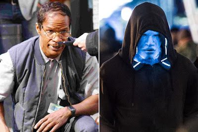 Jamie Foxx playing Electro in The Amazing Spiderman 2