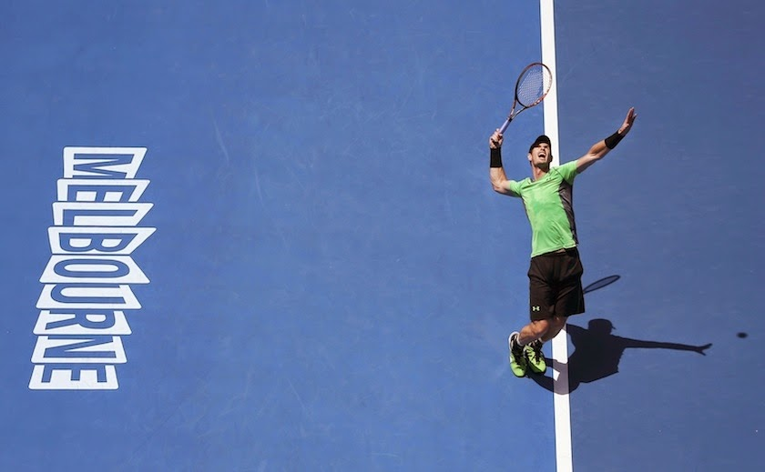 Andy Murray Tenis Servis Avustralya Açık 2015