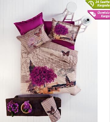 Karaca Home'un tek kişilik yatak örtülerindeki