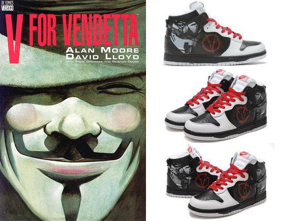 V For Vendetta Nike Shoes