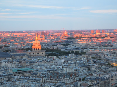 Dome des Invalides at Sunset, view from the Eiffel Tower, La Tour Eiffel, www.thebrighterwriter.blogspot.com
