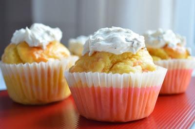 muffins de salmón y crema de queso